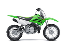 THE KLX110 MOTORCYCLE IS A VERSATILE OFF-ROAD BIKE WITH A LOW SEAT HEIGHT, PLUSH SUSPENSION AND AN AUTOMATIC CLUTCH FOR A FUN, CONFIDENCE-INSPIRING RIDE.